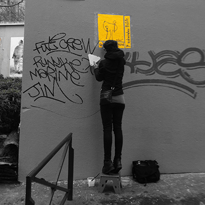 """S'appliquer"" - Éphémère by Dilian- Paris - © photo Mister Young (clin d'œil)"