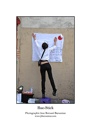 Ephémère - 1 septembre 2013 - à l'occasion de rue stick (Paris) - © photo  JBB