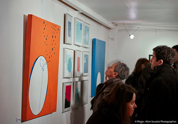 Vernissage In & Out - Janvier 2014 - Les Frigos Galerie l'Aiguillage  (Paris) - © photo Alain Sauzéat