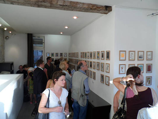 Vernissage Small is beautiful - septembre 2013 - Galerie le Cabinet d'Amateur (Paris) - © photo Bruno Guenin