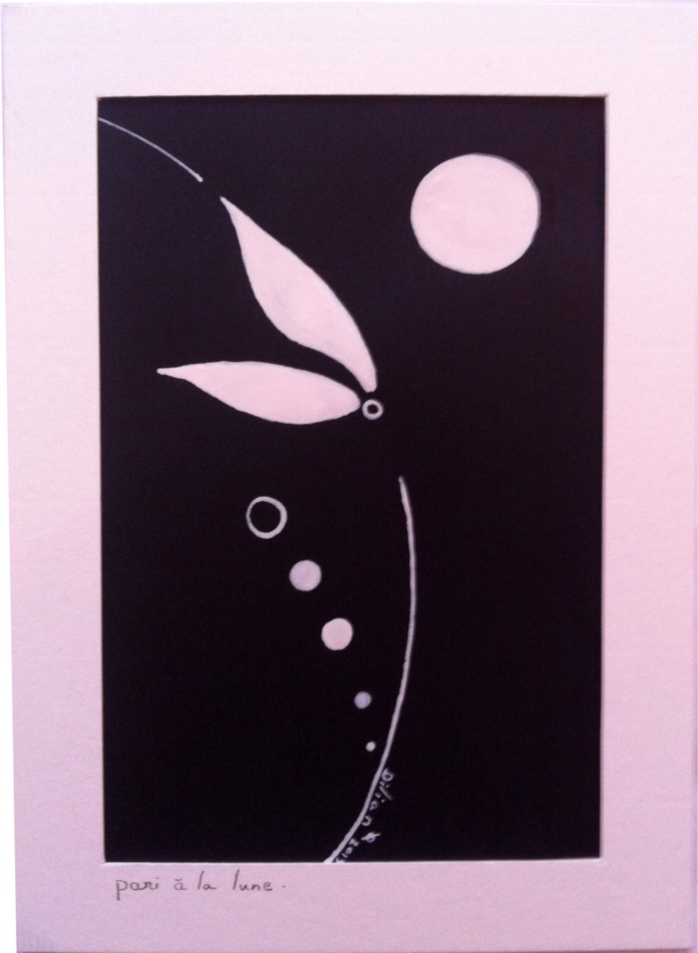 """Pari à la Lune.""